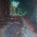 Dappled Drive: Oil on Canvas 70 x 90cm
